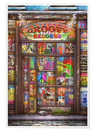 Premium-Poster  Groovy Records - Michael Fishel