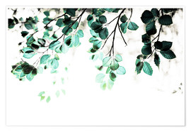 Poster Pastel Leaves 1