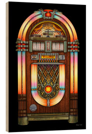 Holzbild  Vintage Jukebox - Michael Fishel
