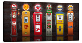 Leinwandbild  Vintage Gas Pumps - Michael Fishel
