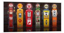 Hartschaumbild  Vintage Gas Pumps - Michael Fishel