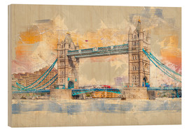 Holzbild  London Tower Bridge - Peter Roder