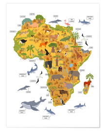 Premium-Poster  Afrikanische Tiere - Kidz Collection