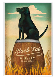Premium-Poster Black Lab Whiskey