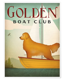 Premium-Poster Golden Boat Club