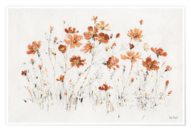 Premium-Poster Wildblumen in orange