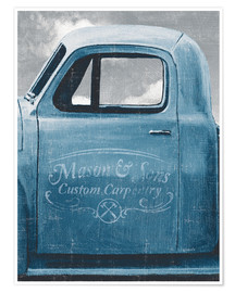 Poster  Lets Go for a Ride II Vintage Blue - James Wiens