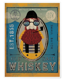 Premium-Poster Seemann IV Old Salt Whiskey