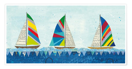 Premium-Poster  Regenbogen Spinnaker V - Courtney Prahl