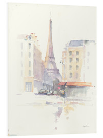 Hartschaumbild  Paris am Morgen - Avery Tillmon
