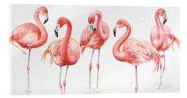 Acrylglasbild  Rosa Flamingos VIII - Lisa Audit
