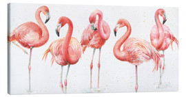 Leinwandbild  Rosa Flamingos VIII - Lisa Audit