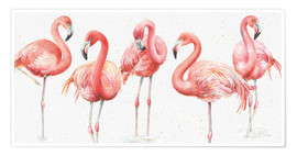 Poster  Rosa Flamingos VIII - Lisa Audit