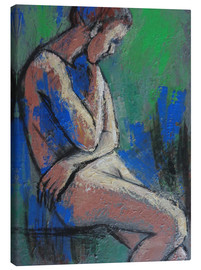 Leinwandbild  In The Garden - Female Nude - Carmen Tyrrell
