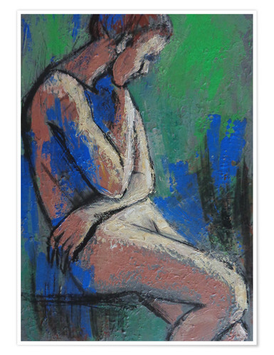 Premium-Poster In The Garden - Female Nude