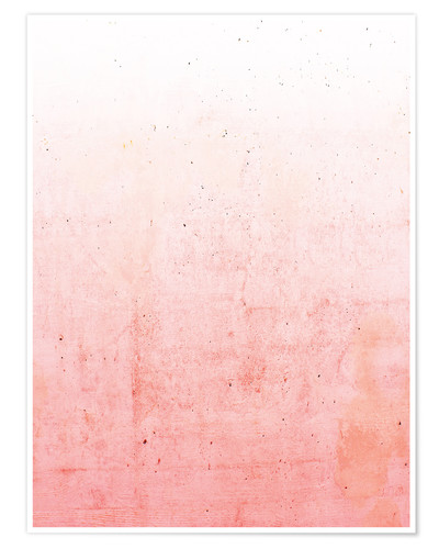 Premium-Poster Pink Ombre