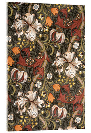 Acrylglasbild  Goldene Lilie - William Morris