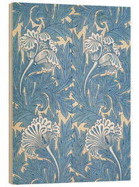 Holzbild  Tulpen - William Morris