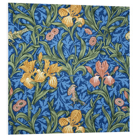 Hartschaumbild  Iris - William Morris