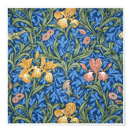 Premium-Poster  Iris - William Morris