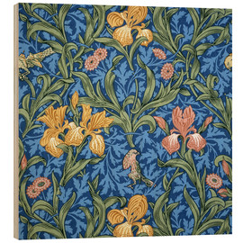 Holzbild  Iris - William Morris