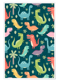 Premium-Poster  Bunte Dinosaurier - Kidz Collection