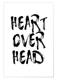 Premium-Poster Heart over head