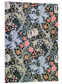 Hartschaumbild  Goldene Lilie - William Morris