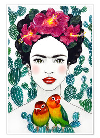 Premium-Poster Fridas Lovebirds
