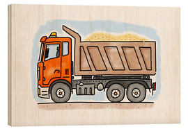 Holzbild  Hugos Lastwagen - Hugos Illustrations
