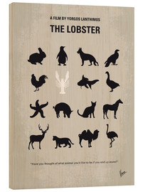 Holzbild  No939 My The lobster minimal movie poster - chungkong