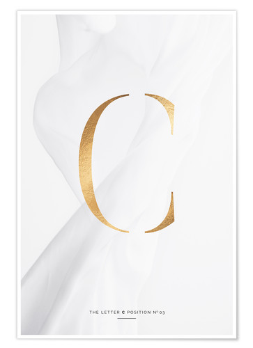 Premium-Poster GOLD LETTER COLLECTION C