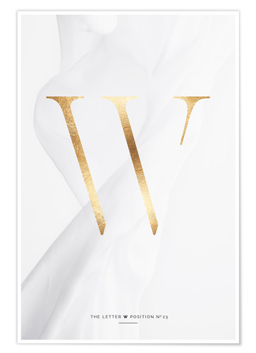 Premium-Poster GOLD LETTER COLLECTION W