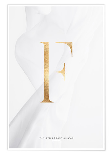 Premium-Poster GOLD LETTER COLLECTION F