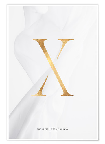 Premium-Poster GOLD LETTER COLLECTION X