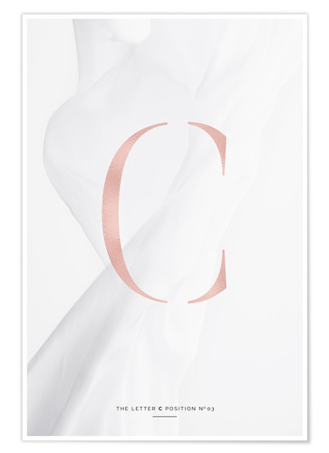 Premium-Poster ROSE GOLD LETTER COLLECTION C