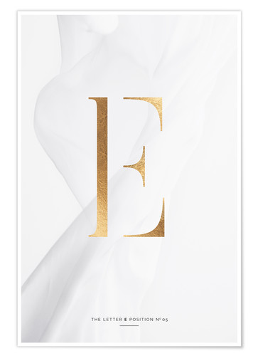 Premium-Poster GOLD LETTER COLLECTION E