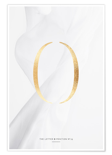 Premium-Poster GOLD LETTER COLLECTION O