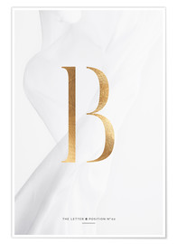 Premium-Poster GOLD LETTER COLLECTION B