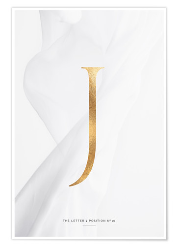 Premium-Poster GOLD LETTER COLLECTION J