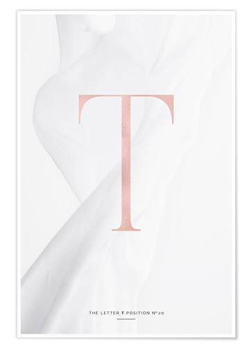 Premium-Poster ROSEGOLD LETTER COLLECTION T