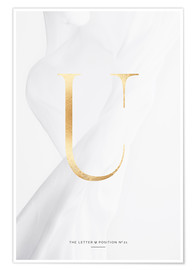 Premium-Poster GOLD LETTER COLLECTION U