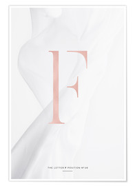 Premium-Poster ROSEGOLD LETTER COLLECTION F