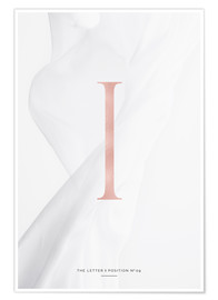 Premium-Poster ROSEGOLD LETTER COLLECTION I