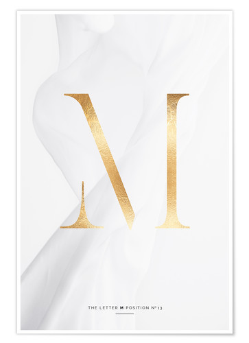 Poster GOLD LETTER COLLECTION M