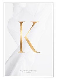 Premium-Poster GOLD LETTER COLLECTION K