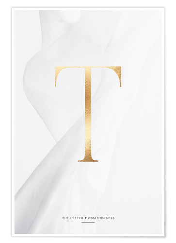 Premium-Poster GOLD LETTER COLLECTION T