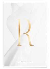 Premium-Poster GOLD LETTER COLLECTION R