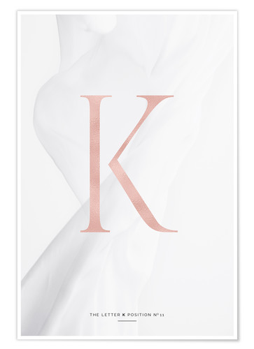 Premium-Poster ROSEGOLD LETTER COLLECTION K