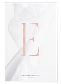 Premium-Poster ROSEGOLD LETTER COLLECTION E
